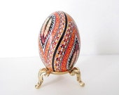 Duck Pysanka ukrainian Easter egg, decorated egg shell, batik eggs
