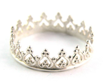 Crown Sterling Silver Stacking Ring
