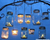 Party Favor Lanterns 100 DIY Wedding Mason Jar Hanging Lids only, Ball Mason Jar Party or Event Lights for Gifts, Candles or Tealights