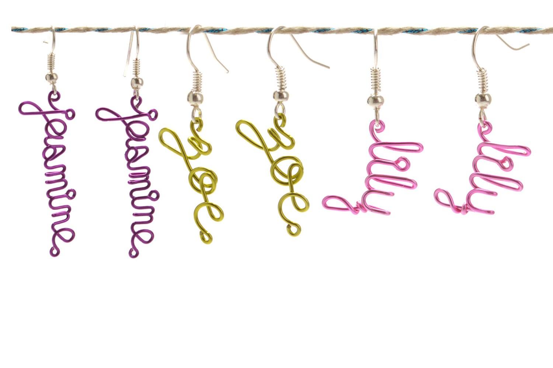Personlized Name Earrings - Custom Childrens Name Earrings - Colorful Dangle Earrings - Little Girls Jewelry