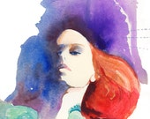Archival Prints  of Watercolor Fashion Illustration. Titled - Moncler Gamme Rouge