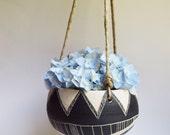 T R I B A L : ceramic hanging planter