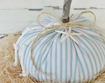 Fabric Pumpkins-Coastal-Beach Cottage Fall
