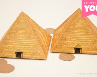 Egyptian Pyramid Favor Box : DIY Printable Pharaoh Tomb PDF - Instant Download