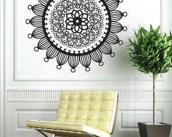 Vinyl Wall Art Decal Sticker Radial Henna OSDC707m