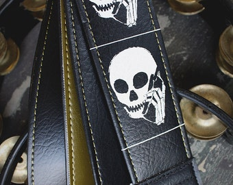 Skull Phone Guitar Strap - Couch Artist Series - Limited Edition Black