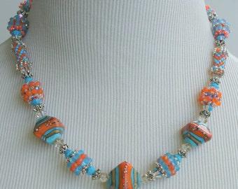 Southwestern Sunset Beaded Necklace