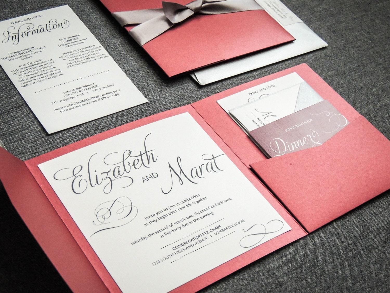 Marsala Wedding Invitations Red and Black Wedding Invitation – Wedding Invitations Red Black and White