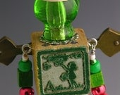 """OOAK Recycled, Upcycled, Found Object Folk Art Junk Fairy, """"Appelonia"""""""