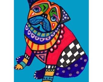 60% Off- Pug Art Print