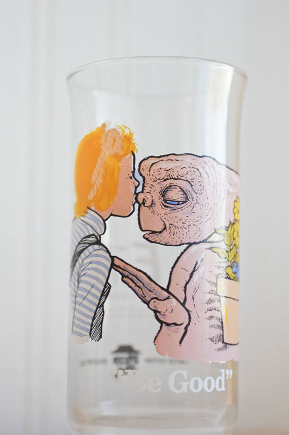 E T Glass Be Good Extra Terrestrial Et Vintage Drinking