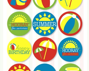Beach Party Printables (INSTANT DOWNLOAD) by Love The Day