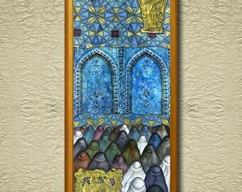 Bactria - Fine Art Giclee Print on heavy Cotton Canvas - unframed