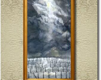 Frozen - Fine Art Print on heavy Cotton Canvas - unframed