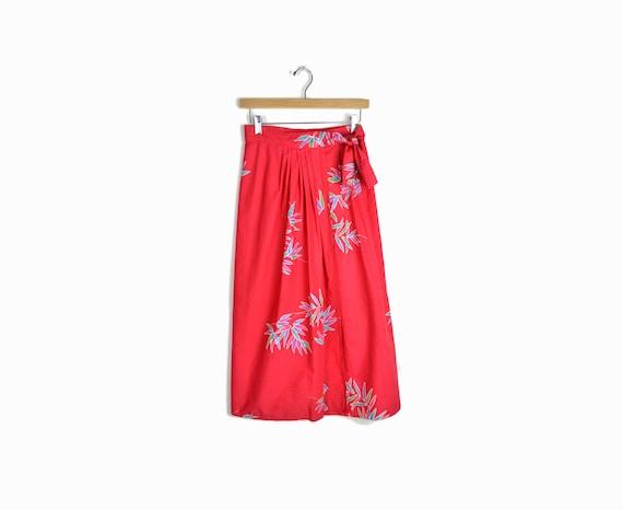 vintage 70s wrap maxi skirt in batik by