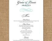 Delicate Wedding Menus - set of 25