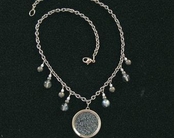 1800s Drum Button Necklace