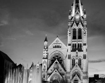 Saint Francis Xavier College Church - Saint Louis University - St Louis - Fine Art Photograph 5x7 8x10 11x14 16x20 24x30