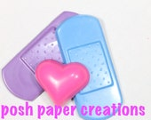 15 sets of 2 Bandaid & 1 heart crayons - in cello bag tied in ribbon - choose your colors