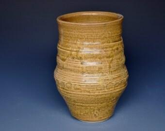 Ochre Vase Handmade