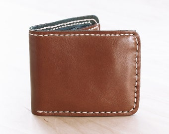 SALE, Hand Sewn Leather Men Wallet in Brown