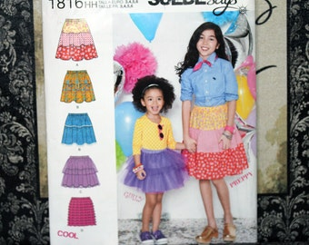 Toddler Girls Size 3 4 5 6 Uncut SImplicity 1816 Pull-on Skirt Girls Child Kids Toddler Sew Sewing Pattern