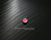 Finger Nail Polish Living Locket Charm / Floating pink nail polish charm / Memory Locket Charms