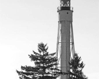 Lighthouse Tall Black White Photo Wall Art Home Decor Fine Art Photography
