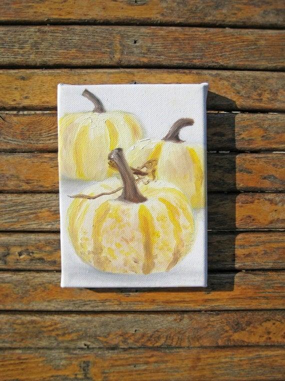 Pumpkin Art - Autumn Painting - Pumpkin Painting - Fall Painting - Original Painting - Fall Art - Autumn Art - Original Painting