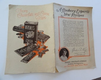 Hersheys chocolate recipe book, vintage hersheys chocolate, hershey pa, hershey chocolate company