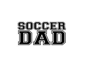 Soccer Dad Vinyl Car Decal