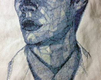 Cross stitch portrait