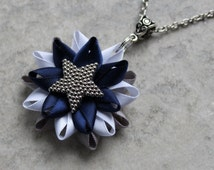 Dallas Cowboys Necklace, Cowboys Jewelry, NFL Gifts, NFL Gear, Texas, Football Fan Gift, Cowboy Colors, Football Mom, Dallas Football