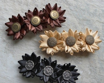 Adult Barrettes Set, Adult Hair Clips, Womens Hair Clips, Womens Hair Accessories, Adult Hair Clip, Adult Hairbows, Adult Hair Accessories
