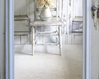 S H A B B Y  Chic White Mirror Bedroom Dressing Mirror vANITY