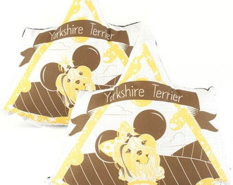 Yorkshire Terrier Dog Breed Pillow Matching Set