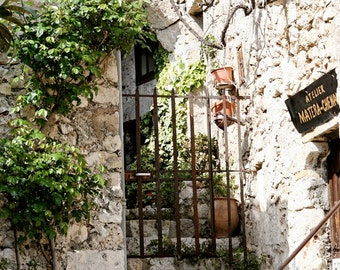 French Riviera Photography - Eze France Photo - European Garden Art -  Mediterranean Home Decor - French Rustic Natural Photograph