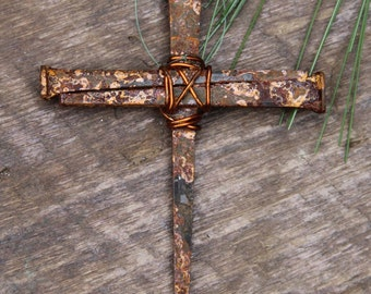 Amazing Accent with a huge impact! Christian nail cross, religious Easter ornament, Easter Egg Fillers, Unique Easter Basket, Bible Bookmark
