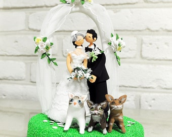 Outdoor arch custom wedding cake topper decoration gift keepsake