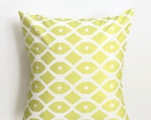 Chain Link in Key Lime Pillow Cover - Lime and White Pillow Cover - 18 x 18 - Coastal Chic