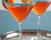 Rimming sugar - teal colored cocktail sugar
