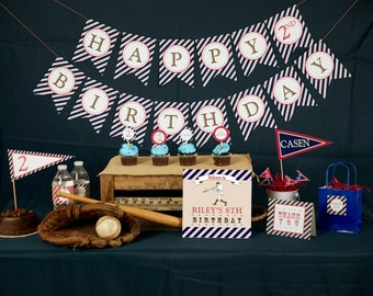 Vintage Baseball Party Decorations - Printable Party Package by 505 Design Paperie