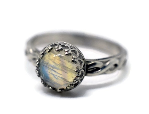 Celtic Moonstone Ring Rainbow Moonstone Engagement by ...