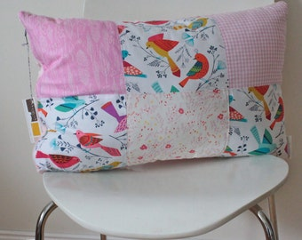 Cuddle Pillow Cover - Pretty Bird, Nursing Chair Pillow, the perfect cushion to snuggle and nurse with