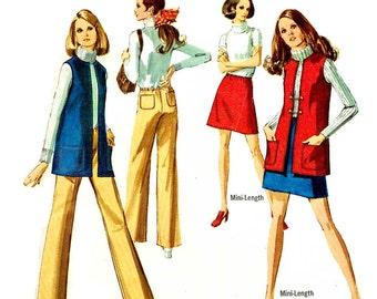 Vintage 1960s Wardrobe Pattern  Uncut Size 12 Bust 34 Simplicity 8411