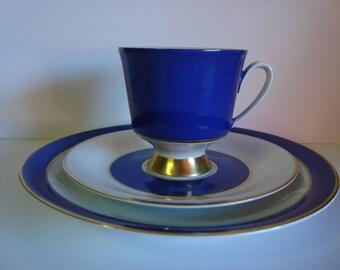 Johann Seltmann Vohenstrauss Dessert Set in Blue