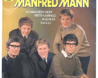 Best of Manfred Mann, Vintage Vinyl Record Album Do-Wah-Diddy, Pretty Flamingo, European Import Circa 1978