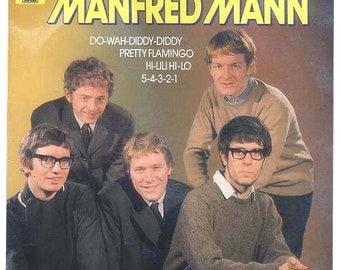 Best of Manfred Mann, Vintage Vinyl Record Album Do-Wah-Diddy, Pretty Flamingo, European Import Circa 1978