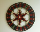 "24"" x 24"" Primitive Wood Roulette / Carnival Wheel, Roulette Wheel, Folk Art Game Board, Primitive Gameboard"