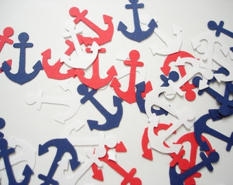 100 Nautical Anchors punch die cut confetti scrapbook embellishments - No399